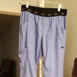 Petite small ceil blue scrub bottoms